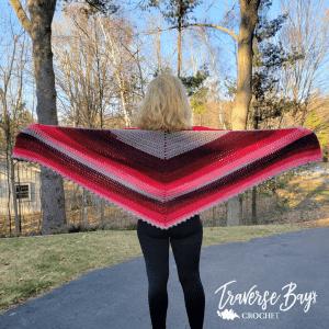 crochet sugarwheel shawl