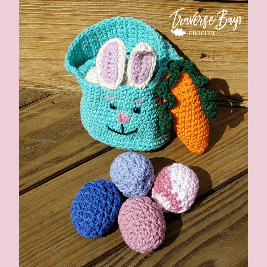 crochet easter basket
