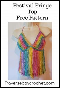 crochet festival fringe top