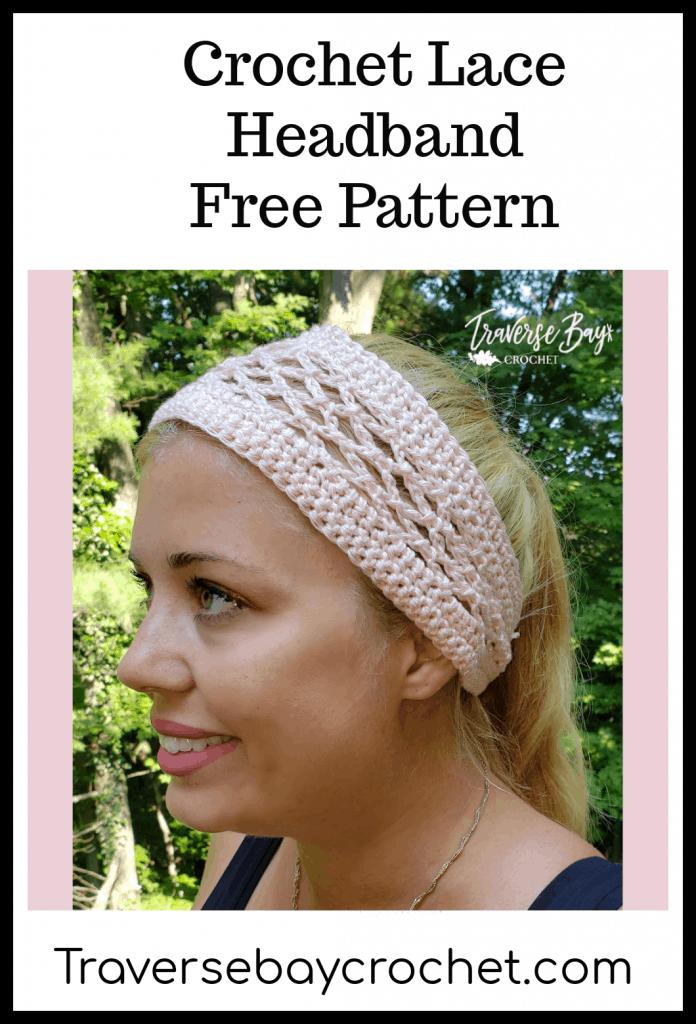 crochet lace headband