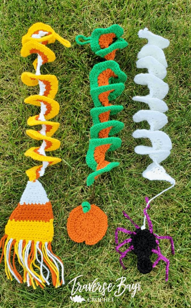 crochet halloween wind spinners